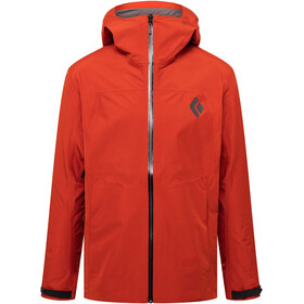 Black Diamond Liquid Point Chaqueta Shell Hombre, red rock